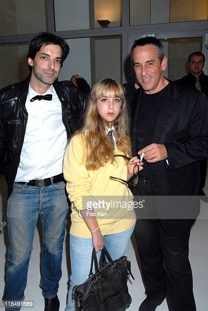Yan Ceh Ninon Ardisson and Thierry Ardisson attend the Facade Magazine Celebration Cocktail Party at the Passage du Desir on October 72007 In Paris...