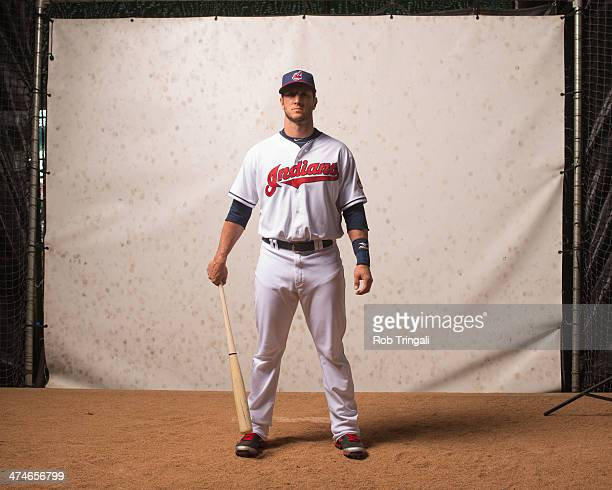 Yan Gomes of the Cleveland Indians poses for a portrait at Goodyear Ballpark on February 24 2014 in Goodyear Arizona