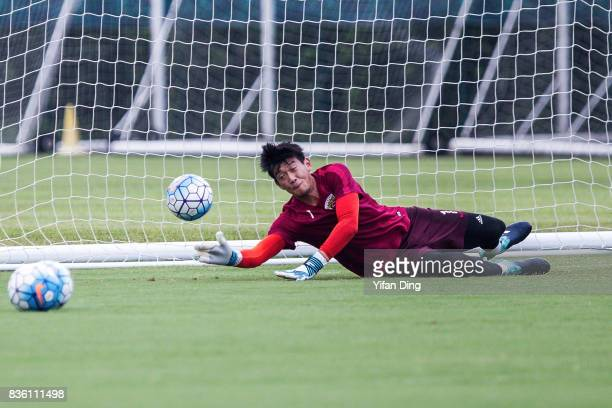 Yan Junling of Shanghai SIPG reacts during prematch training session of the AFC Champions League 2017 Quarterfinals 1st leg between Shanghai SIPG v...