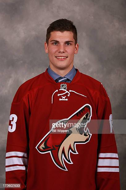 Yan Pavel Laplante 62nd pick overall by the Phoenix Coyotes poses for a portrait during the 2013 NHL Draft at Prudential Center on June 30 2013 in...
