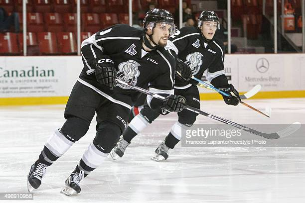 Yan Pavel Laplante of the Gatineau Olympiques skates against the Drummondville Voltigeurs on November 7 2015 at Robert Guertin Arena in Gatineau...