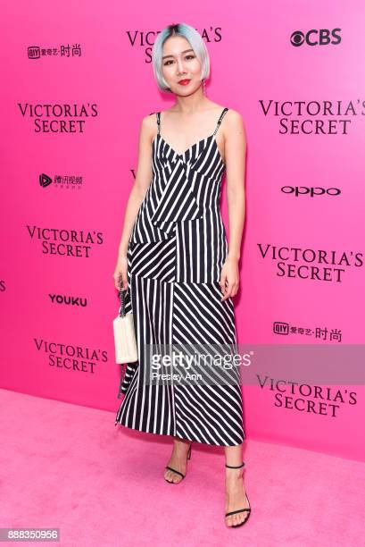 Yan Xu attends 2017 Victoria's Secret Fashion Show In Shanghai Pink Carpet Arrivals at MercedesBenz Arena on November 20 2017 in Shanghai China