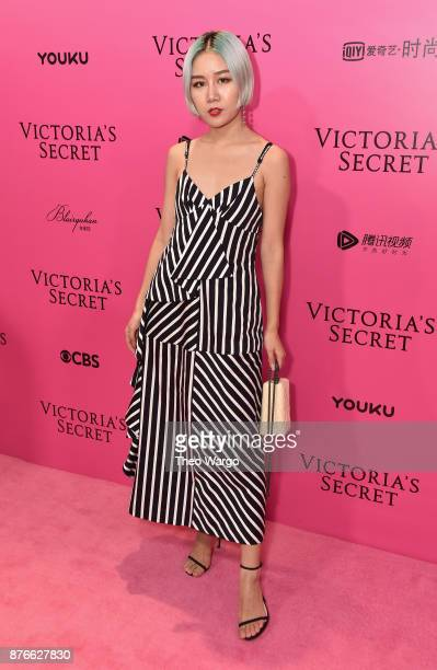 Yan Xu attends the 2017 Victoria's Secret Fashion Show In Shanghai Pink Carpet Arrivals at MercedesBenz Arena on November 20 2017 in Shanghai China