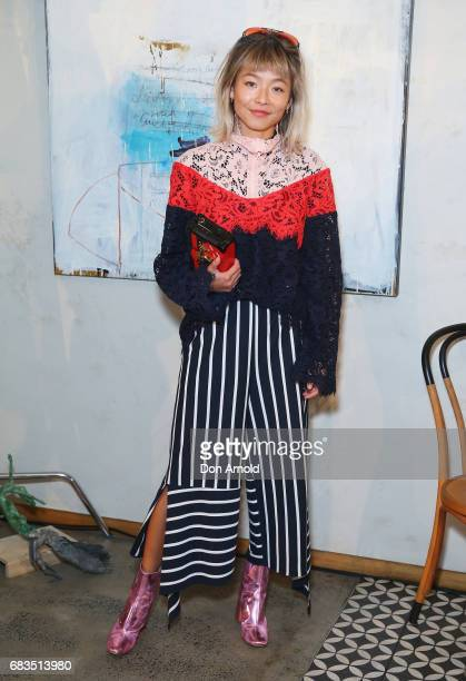 Yan Yan Chan arrives ahead of the Acler X Myer lunch at No 1 Bent Street on May 16 2017 in Sydney Australia