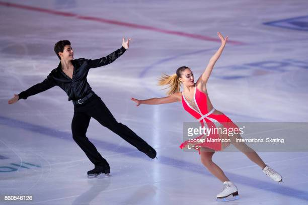 Yana Bozhilova and Kaloyan Georgiev of Bulgaria compete in the Junior Ice Dance Short Dance during day one of the ISU Junior Grand Prix of Figure...