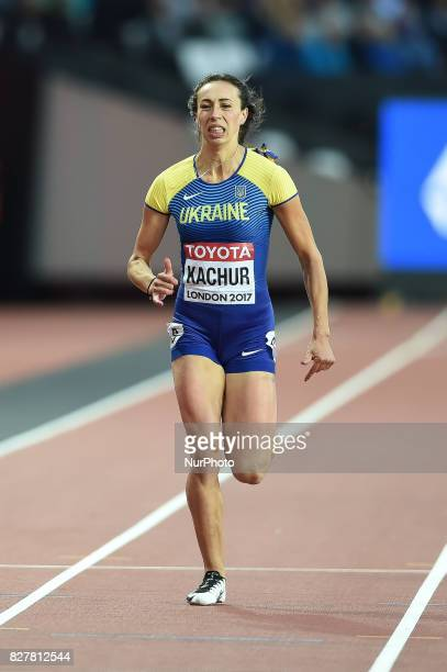 Yana KACHUR Ukraine during 200 meter heats in London at the 2017 IAAF World Championships athletics on August 8 2017
