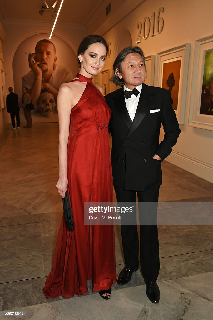 Yana Max (L) and Leon Max attend a private view of 'Vogue 100: A Century of Style' hosted by Alexandra Shulman and Leon Max at the National Portrait Gallery on February 9, 2016 in London, England.