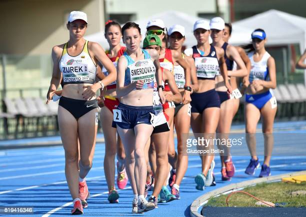 Yana Smerdova Authorized Natural Athlete in action during European Athletics U20 Championships on July 20 2017 in Grosseto Italy