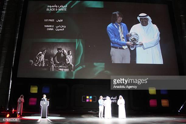 Yanan Li from China wints the Black and White category of Hamdan International Photography Award on March 172014 in Dubai Winners of the Hamdan...