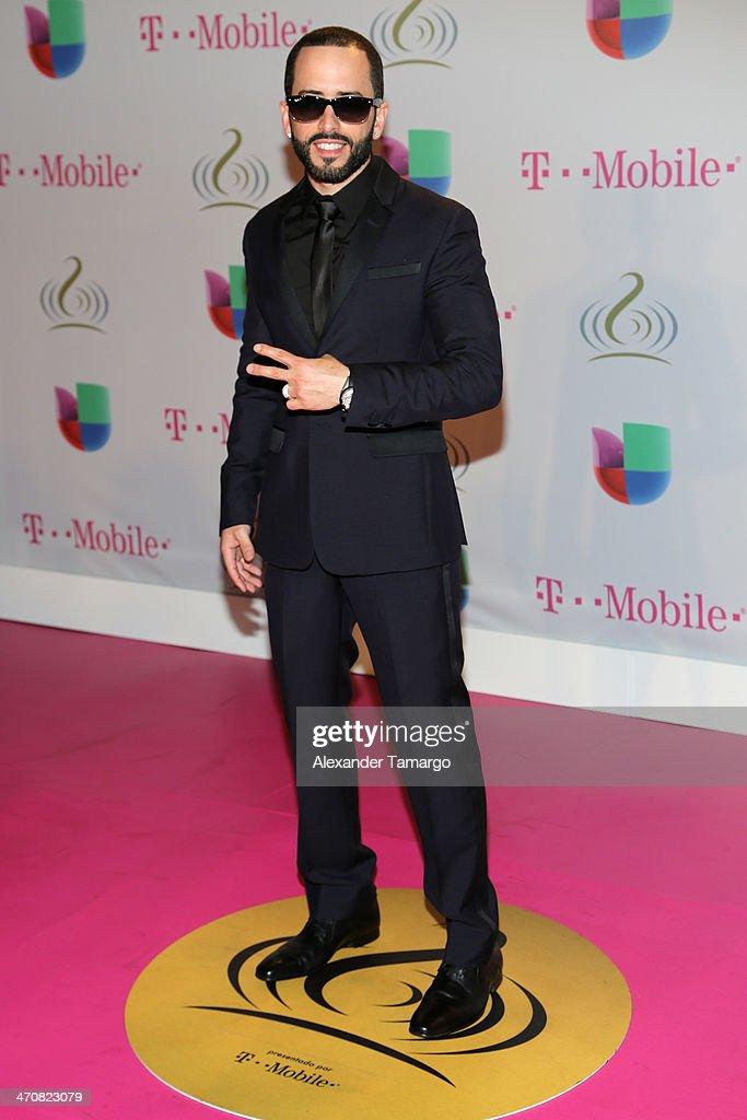 <a gi-track='captionPersonalityLinkClicked' href=/galleries/search?phrase=Yandel&family=editorial&specificpeople=666170 ng-click='$event.stopPropagation()'>Yandel</a> attends Premio Lo Nuestro a la Musica Latina 2014 at American Airlines Arena on February 20, 2014 in Miami, Florida.