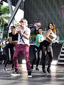 Yandel during Pitbull's New Year's Revolution rehearsal at Bayfront Park Amphitheater on December 30 2015 in Miami Florida