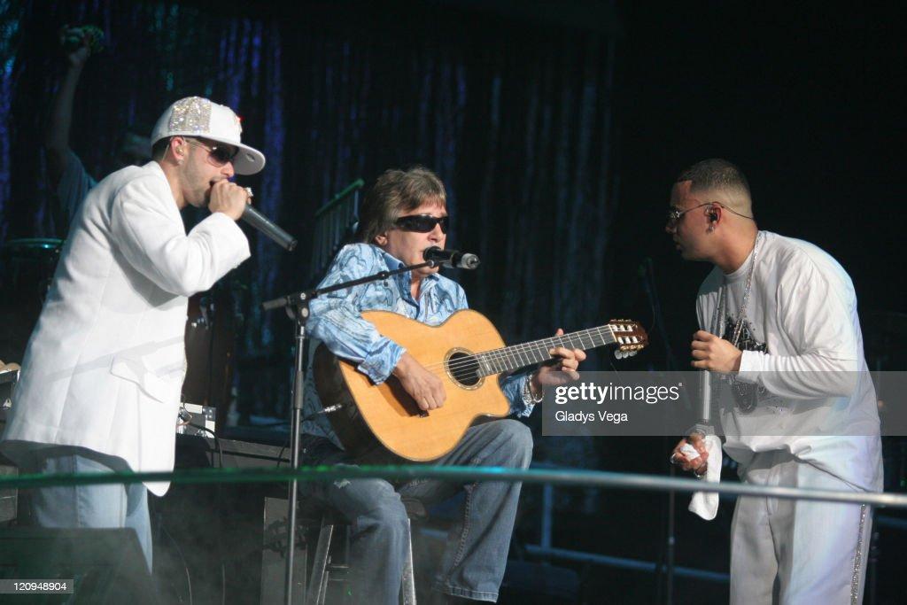 Yandel Jose Feliciano and Wisin during Wisin Yandel in Concert at Coliseo de Puerto Rico in San Juan March 17 2006 at Coliseo de Puerto Rico in San...