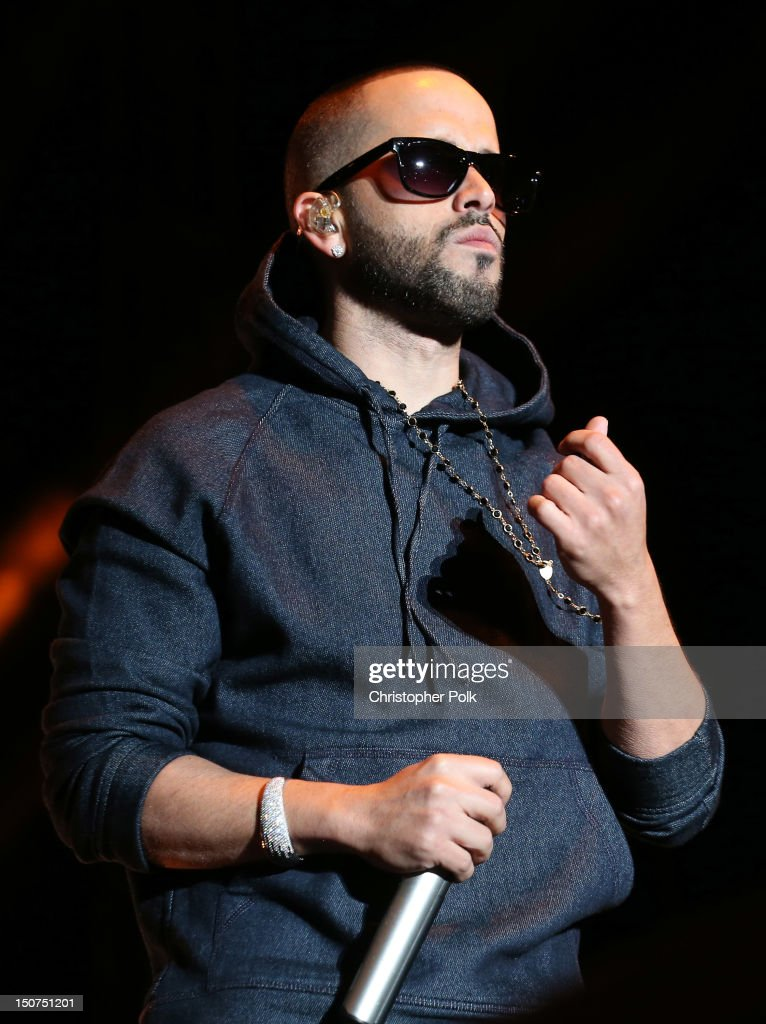 Yandel of Wisin Y Yandel performs onstage during Univision Radio's H2O Music Festival sponsored by MiO at Los Angeles State Historic Park on August...