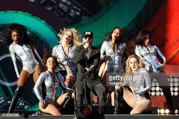 Yandel performs during the 2016 Global Citizen Festival at Central Park on September 24 2016 in New York City