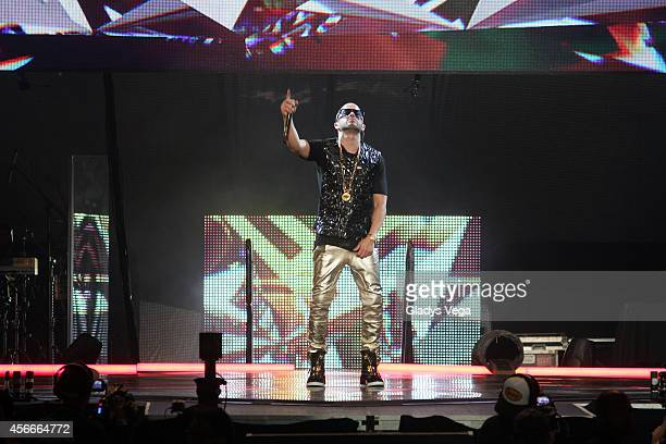 Yandel performs in his concert 'De Lider a Leyenda' at Coliseo Jose M Agrelot on October 4 2014 in San Juan Puerto Rico