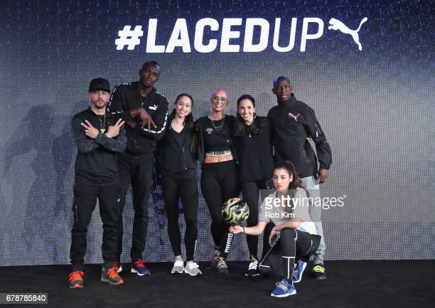 Yandel Usain Bolt Meagan Mann YesJulz Brittany Pollack Lisa Freestyle and Bradley Wright Phillips join PUMA as they launch the latest NETFIT...