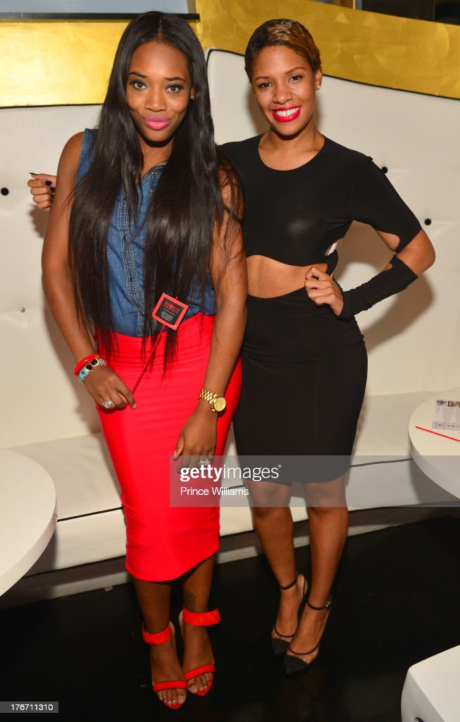 Yandi Smith and Dariana Colon-Bibb attend the Host Rebelle Agency PR Launch party at La Mongerie on August 16, 2013 in Atlanta, Georgia.