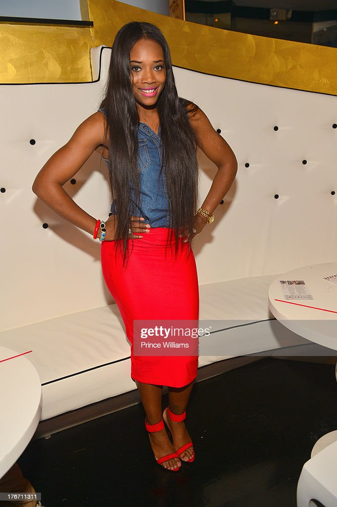 Yandi Smith attends the Host Rebelle Agency PR Launch party at La Mongerie on August 16, 2013 in Atlanta, Georgia.