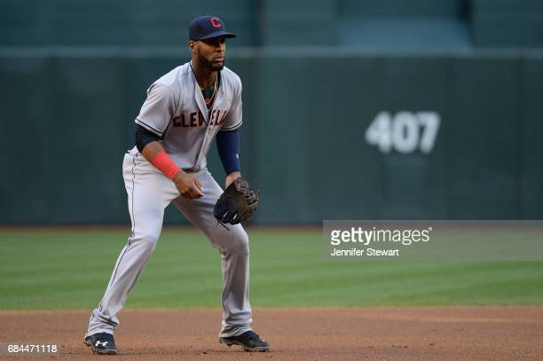 Yandy Diaz of the Cleveland Indians in action against the Arizona Diamondbacks in the MLB game at Chase Field on April 8 2017 in Phoenix Arizona The...