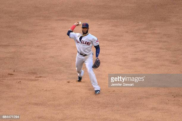 Yandy Diaz of the Cleveland Indians in action in the fourth inning against the Arizona Diamondbacks at Chase Field on April 8 2017 in Phoenix Arizona...