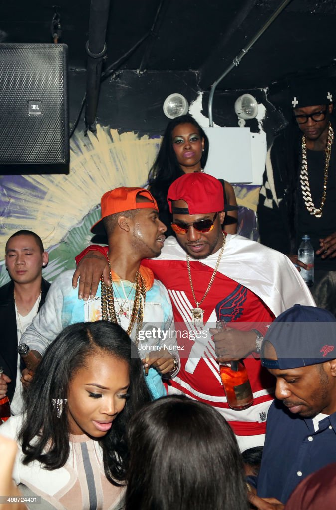 Yandy Smith, <a gi-track='captionPersonalityLinkClicked' href=/galleries/search?phrase=Juelz+Santana&family=editorial&specificpeople=608338 ng-click='$event.stopPropagation()'>Juelz Santana</a>, <a gi-track='captionPersonalityLinkClicked' href=/galleries/search?phrase=Cam%27ron&family=editorial&specificpeople=2085564 ng-click='$event.stopPropagation()'>Cam'ron</a>, and <a gi-track='captionPersonalityLinkClicked' href=/galleries/search?phrase=2+Chainz&family=editorial&specificpeople=8559144 ng-click='$event.stopPropagation()'>2 Chainz</a> (rear) attend Camron's KillaBowl at WIP on February 2, 2014 in New York City.