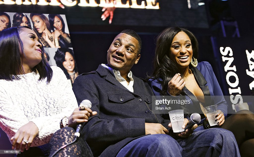 Yandy Smith, Rich Dollaz, and <a gi-track='captionPersonalityLinkClicked' href=/galleries/search?phrase=Tahiry&family=editorial&specificpeople=6490872 ng-click='$event.stopPropagation()'>Tahiry</a> appear at the VH1 'Love & Hip Hop' Season 4 Premiere at Stage 48 on October 28, 2013 in New York City.