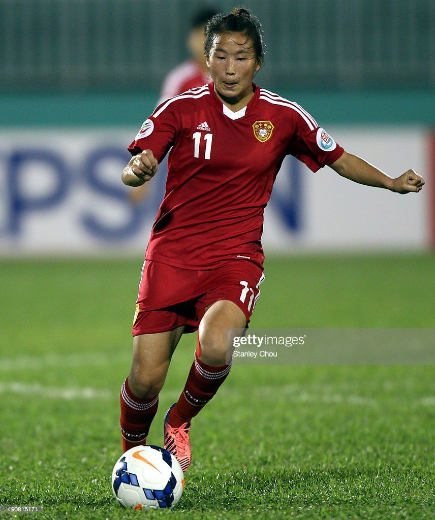 Yang Li of China in action during the AFC Women's Asian Cup Group B match between China and Thailand at Thong Nhat Stadium on May 15, 2014 in Ho Chi Minh City, Vietnam.