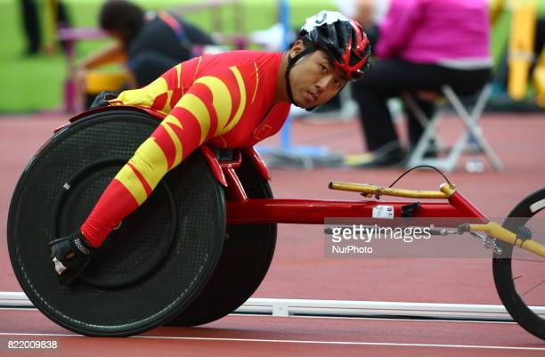 Yang Liu of China compete Men's 800m T54 Final during World Para Athletics Championships at London Stadium in London on July 21 2017