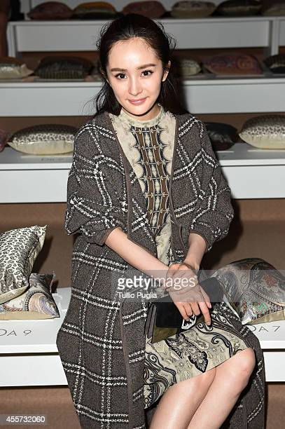 Yang Mi attends the Etro show as a part of Milan Fashion Week Womenswear Spring/Summer 2015 on September 19 2014 in Milan Italy