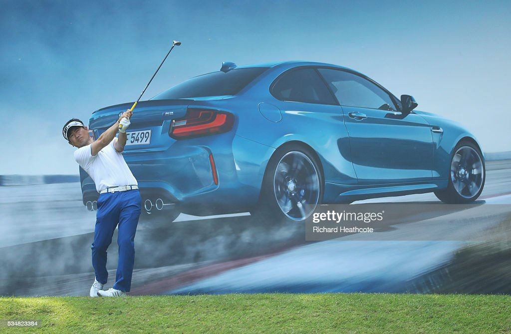 Y.E. Yang of Korea tees off on the 10th hole during day three of the BMW PGA Championship at Wentworth on May 28, 2016 in Virginia Water, England.