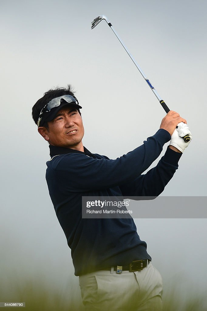 Y.E. Yang of Korea tees off on the 11th hole during the second round of the 100th Open de France at Le Golf National on July 1, 2016 in Paris, France.