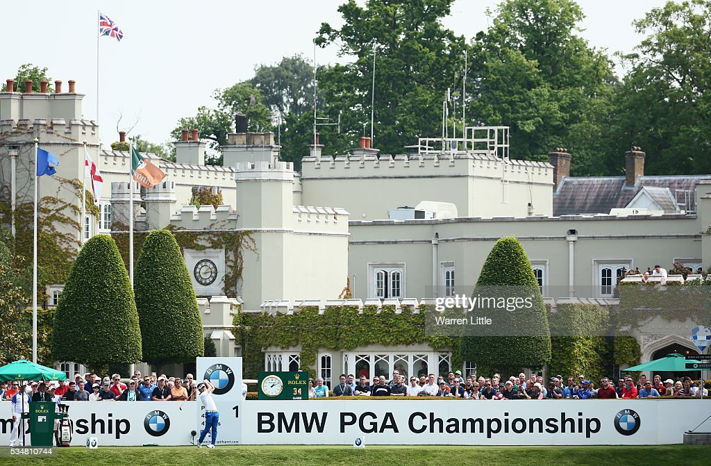 Y.E. Yang of Korea tees off on the 1st hole during day three of the BMW PGA Championship at Wentworth on May 28, 2016 in Virginia Water, England.