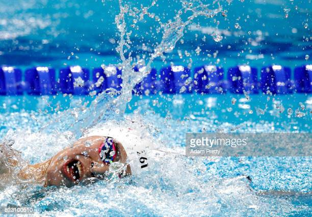 Yang Sun of China competes during the Men's 800m Freestyle final on day thirteen of the Budapest 2017 FINA World Championships on July 26 2017 in...