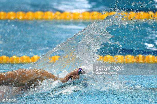 Yang Sun of China competesl during the Men's 200m Freestyle final on day twelve of the Budapest 2017 FINA World Championships on July 25 2017 in...