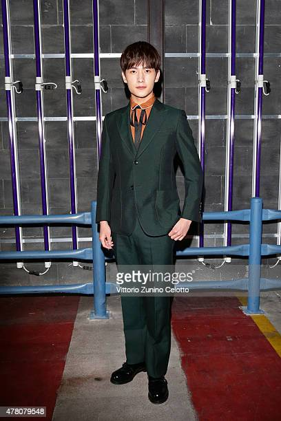 Yang Yang attends the Gucci fashion show during the Milan Men's Fashion Week Spring/Summer 2016 on June 22 2015 in Milan Italy