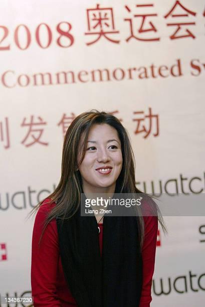 Yang Yang during Yang Yang Promotes Swatch in Hangzhou in Hangzhou Zhejiang China