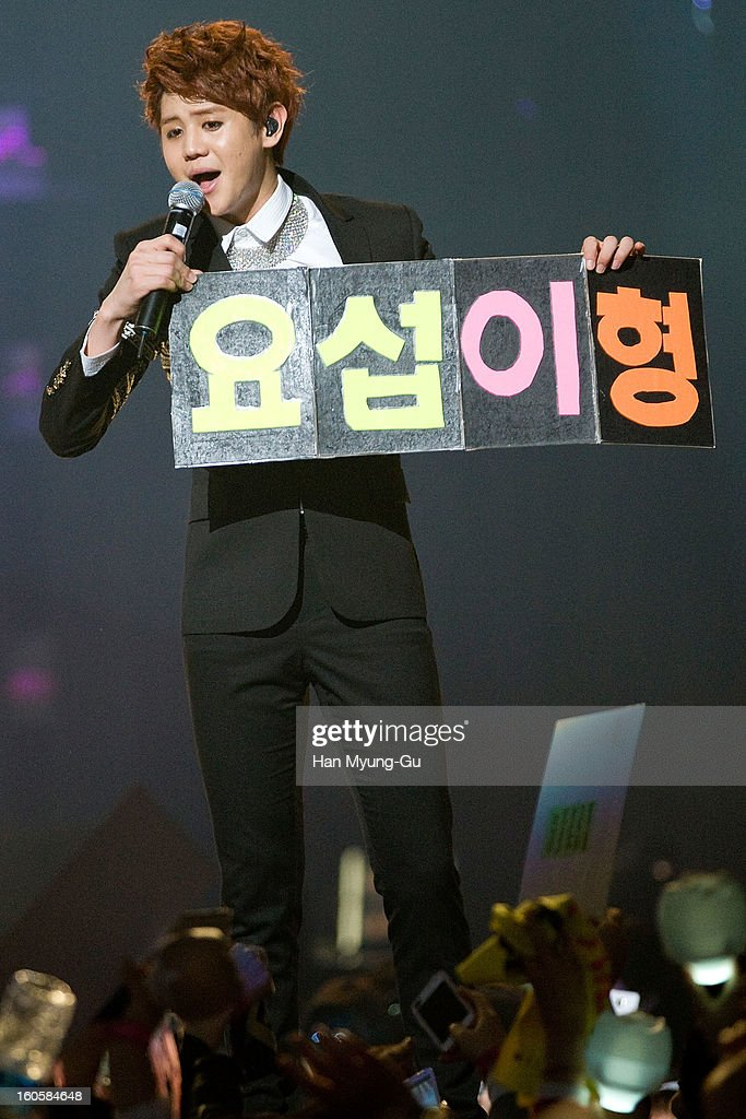 Yang Yo-Seop of South Korean boy band Beast performs onstage during the 2013 United Cube Concert at Jamsil Stadium on February 2, 2013 in Seoul, South Korea.