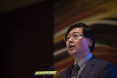 Yang Yuanqing chairman and chief executive officer of Lenovo Group Ltd speaks during a news conference in Hong Kong China on Thursday May 26 2016...