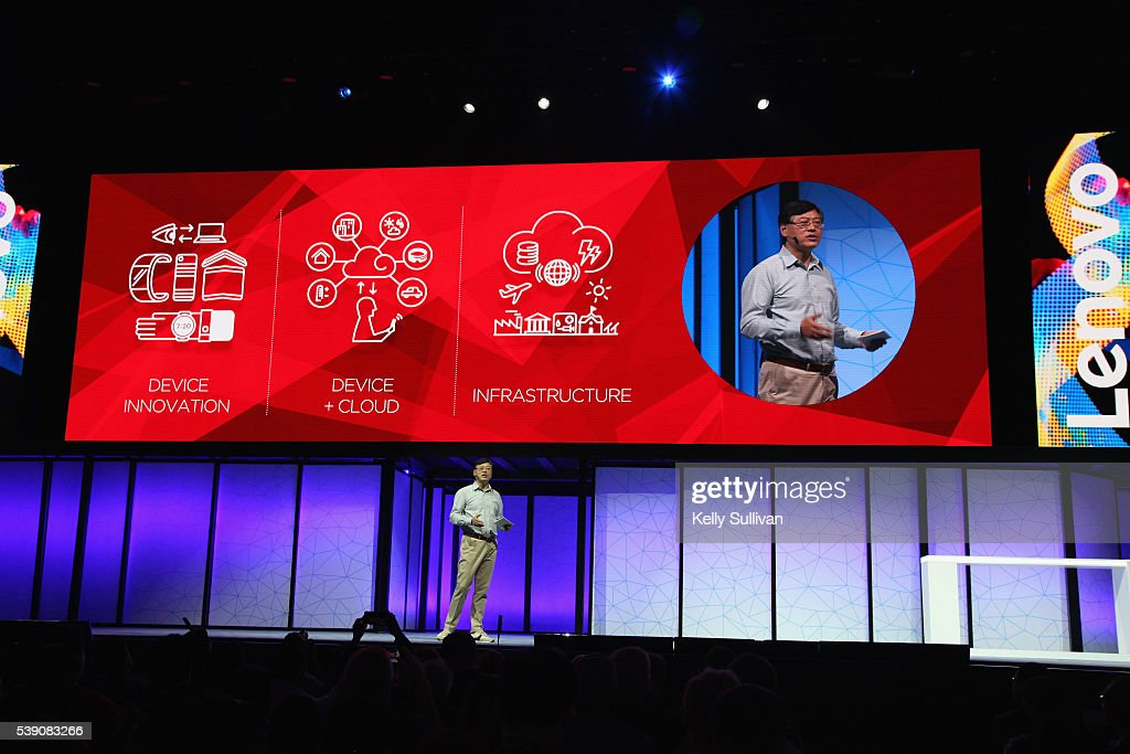 Yang Yuanqing Lenovo CEO kicks off Lenovo Tech World 2016 at The Masonic Auditorium on June 9 2016 in San Francisco California