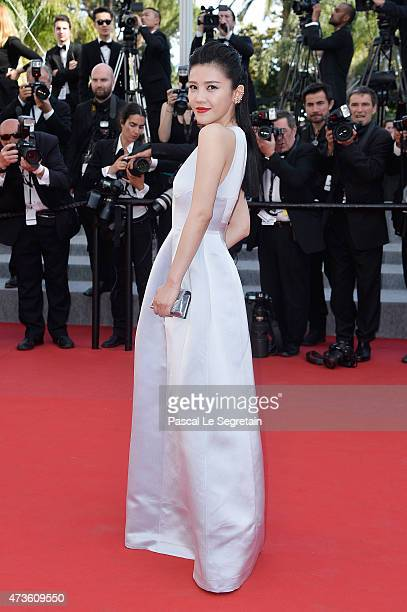 Yang Zishan attends the 'Mia Madre' Premiere during the 68th annual Cannes Film Festival on May 16 2015 in Cannes France