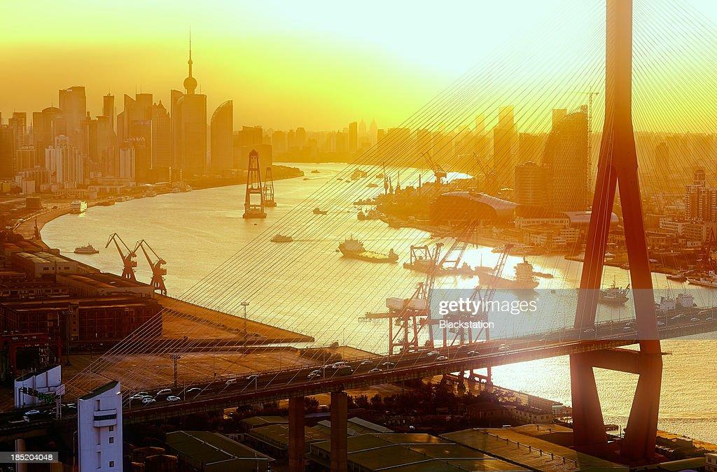 Yangpu Bridge over Huangpu Rive