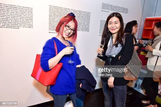 Yangquizi Lin and Sue Kim attend Kartell Tribute to Componibili 50th Anniversary at Kartell Flagship Store New York on May 22 2017 in New York City