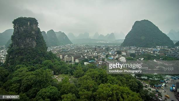 Yangshuo in fog