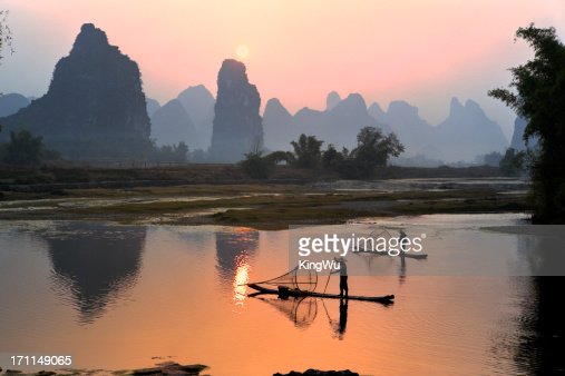 Yangshuo Li River at sunset