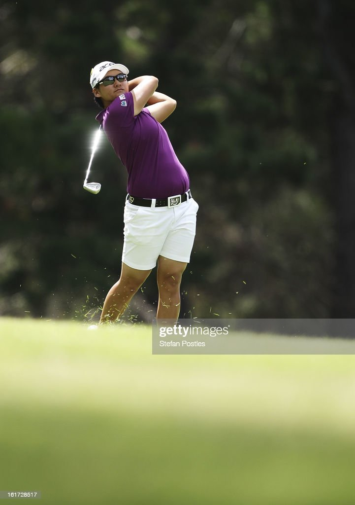 Yani Tseng of Taiwan hits down the fairway during day two of the ISPS Handa Australian Open at Royal Canberra Golf Club on February 15, 2013 in Canberra, Australia.