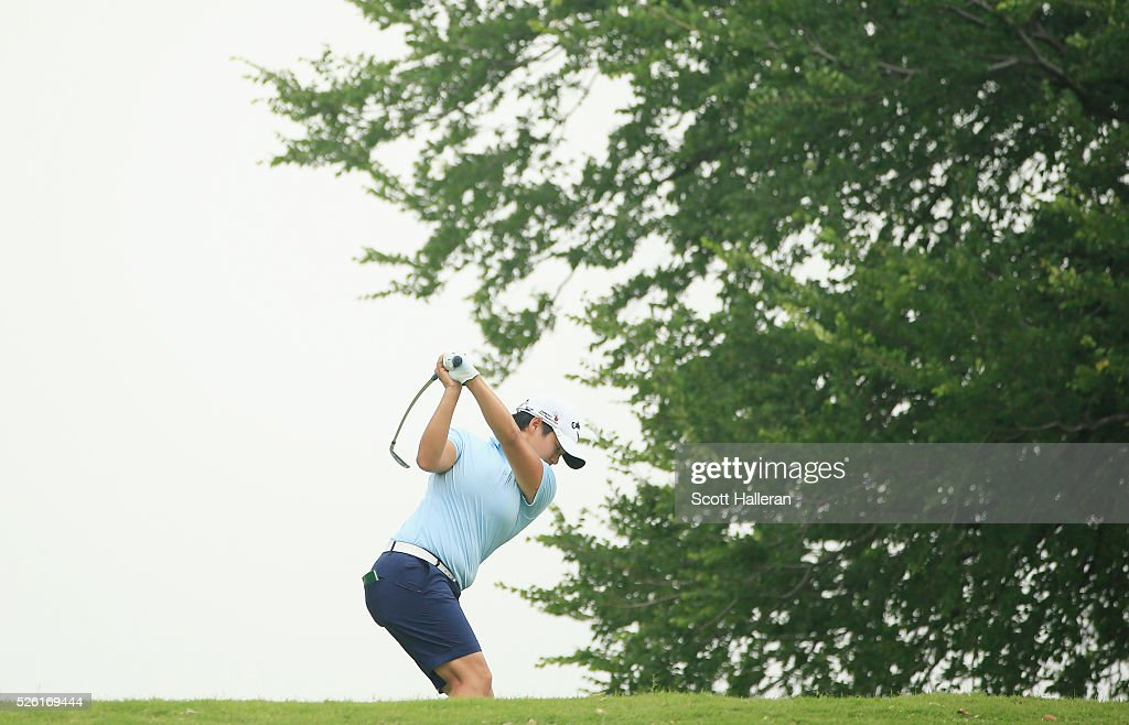 <a gi-track='captionPersonalityLinkClicked' href=/galleries/search?phrase=Yani+Tseng&family=editorial&specificpeople=4682916 ng-click='$event.stopPropagation()'>Yani Tseng</a> of Taiwan hits her tee shot on the eighth hole during the second round of the Volunteers of America Texas Shootout at Las Colinas Country Club on April 29, 2016 in Irving, Texas.