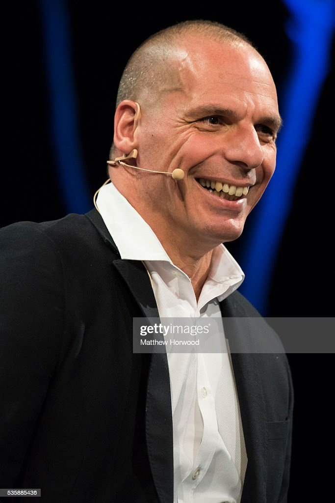 Yanis Varoufakis, former finance minister of Greece, during the 2016 Hay Festival on May 30, 2016 in Hay-on-Wye, Wales. The Hay Festival is an annual festival of literature and arts now in its 29th year.