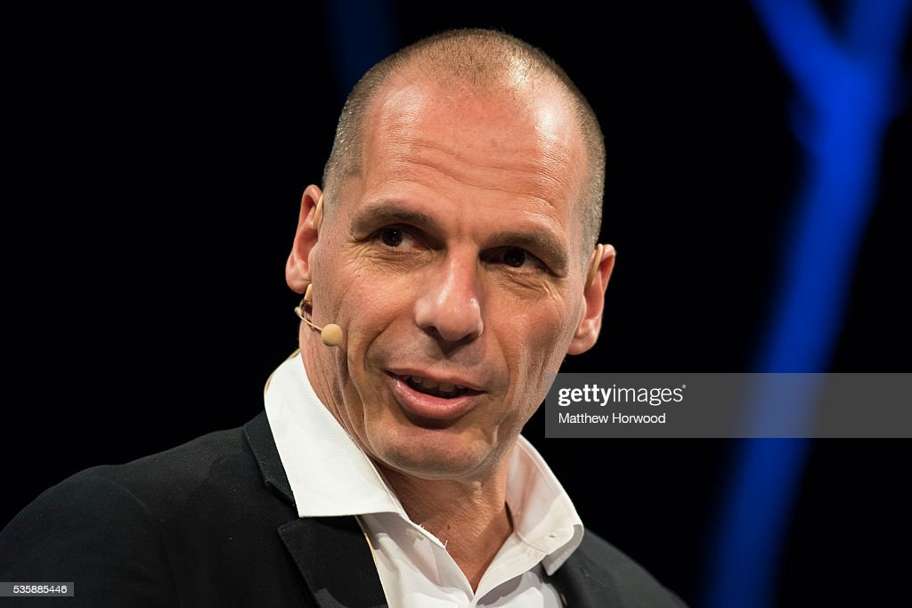 <a gi-track='captionPersonalityLinkClicked' href=/galleries/search?phrase=Yanis+Varoufakis&family=editorial&specificpeople=13872964 ng-click='$event.stopPropagation()'>Yanis Varoufakis</a>, former finance minister of Greece, during the 2016 Hay Festival on May 30, 2016 in Hay-on-Wye, Wales. The Hay Festival is an annual festival of literature and arts now in its 29th year.