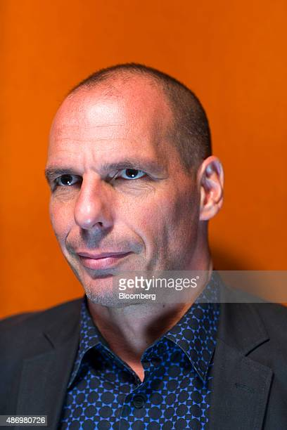 Yanis Varoufakis former Greek finance minister poses for a photograph at the Ambrosetti Forum in Cernobbio Italy on Saturday Sept 5 2015 The three...
