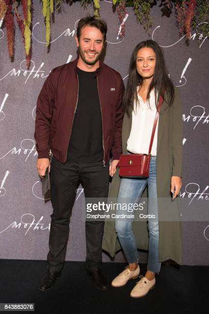 Yaniss Lespert and Betina Orseti attend the French Premiere of 'mother' at Cinema UGC Normandie on September 7 2017 in Paris France